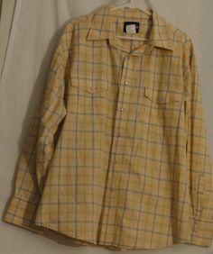 Wrangler Pearl Snap Long Sleeve Multi-Color Western Shirt Size XXL  #Wrangler #Western