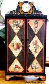 Look at this stunning altered cabinet using Botanicabella by @Linda Cain. Click to see more details! Amazing!