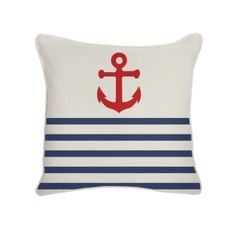 Cute Nautical pillow @Ashley Rice..would be a cute start for a quilt for Gretchen and Brent..