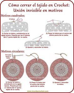 Como cerrar el tejido y esconder la hebra en crochet o ganchillo01…
