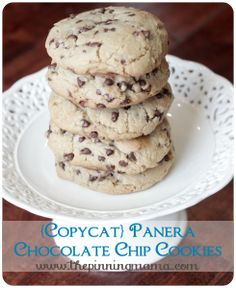{Copycat} Panera Chewy Chocolate Chip Cookies