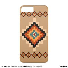 Traditional Romanian Folk Motifs iPhone 7 Plus Case