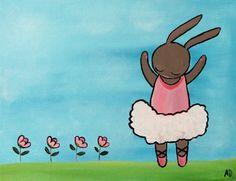 Ballerina Dancer Kids Wall Art Little Girl Nursery от andralynn