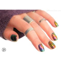 fall in ...naiLove!: POLISH ME SILLY Mega Multichromes: watermarble nailart.