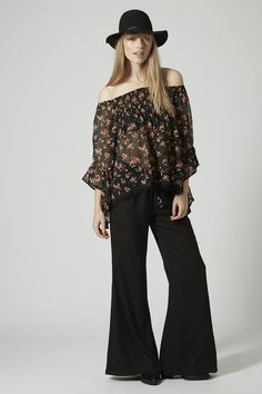 Photo 2 of Floral Print Wide Sleeve Top by Band of Gypsies