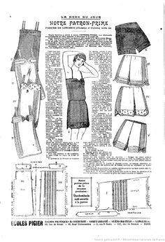 La Mode du jour. [25/11/26, нижняя рубашка и панталоны