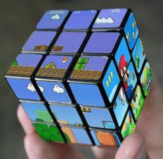 Mario en rubik's cubes