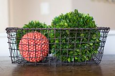 Iron Wire Basket - Rectangle - Medium