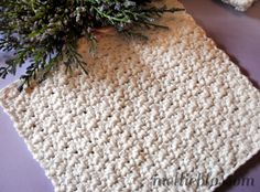 ...I thought I'd share with you a free easy crochet dishcloth pattern. It's my favorite dish cloth pattern as well. Cotton dishcloths have become enormously