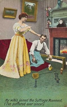 Image result for satirical suffragette postcard 1910s