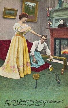 Image result for satirical suffragette postcard 1910s