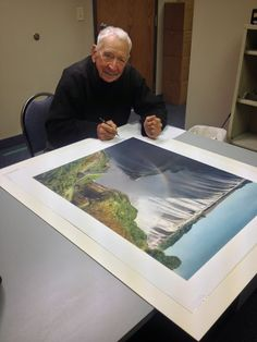 Former MN state golf champ, #BudChapman creator of #Infamous18GolfHoles will be exhibiting other unseen works @GriffinGallery1 next week.
