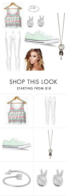 """""""Untitled #37"""" by doves-will-fly ❤ liked on Polyvore featuring French Connection, Converse, Rock 'N Rose and Charlotte Tilbury"""