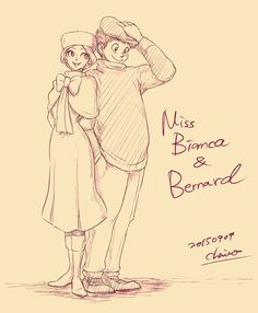 Bianca and Bernard by chacckco