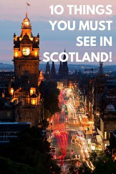 A list of things to see and do in Scotland. A travel guide with everything you need to know for your vacation around the Scottish country.