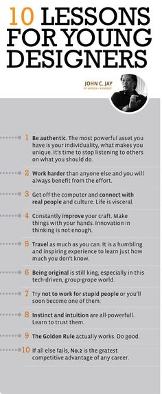 10 Lessons for Young Designers