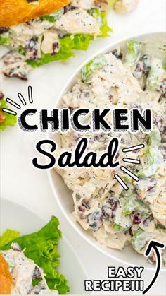 Chicken Salad Recipes, Easy Salad Recipes, Easy Healthy Recipes, Appetizer Recipes, Easy Meals, Healthy Chicken Salads, Healthy Rotisserie Chicken Recipes, Rotisserie Chicken Salad, Appetizers