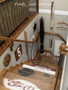 How to make a giant number or letter | Funky Junk InteriorsFunky Junk Interiors. I love the stairs