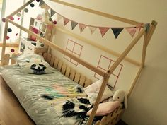 Montessori house bed is an amazing place for children where they can sleep and play. Wooden bed housewill make transitioning from a baby bed to a toddler bed smoothly. Bed is designed following...