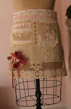 Apron Stitching by freckledfarm, via Flickr