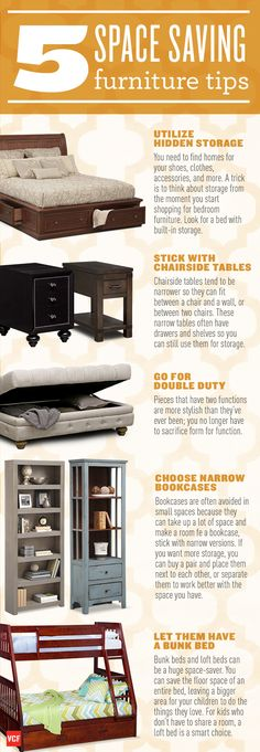 Five ways to save space in your home!
