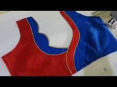 This Video Shows a Beautiful Buff hand model Blouse cutting and Stitching, The Buff Sleeve is Shown in the next video, keep watching Patch Work Blouse Designs, Best Blouse Designs, Simple Blouse Designs, Saree Blouse Neck Designs, Stylish Blouse Design, Dress Designs, Designer Blouse Patterns, Blouse Models, Couture