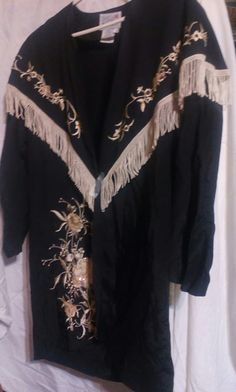 Vintage Black Western Ladies Jacket/Coat with by LillieEttas4You