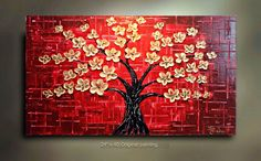 This is pretty awesome but not for $285.  Use a canvas - paint background - add paper flowers.