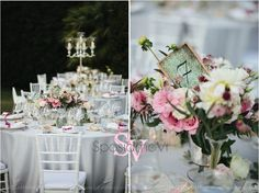Pink white vintage #tuscan_styled wedding centerpiece http://sposiamovi.it/en/get-in-touch/