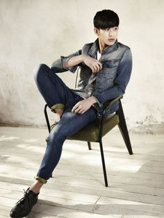 Kim Soo Hyun Looks Sexy in Denim for Calvin Klein Jeans   Soompi
