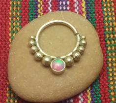 Septum18gauge, Septum Ring ,septum ring opal, septum piercing, septum jewelry, body jewelry, by opaljewells on Etsy