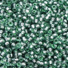 8/0 Miyuki Silver Lined Lichen Green Seed Beads - 2349 - 15 grams - Miyuki Color # 1456 - 8/0 Lichen Miyuki Seed Beads