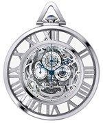 Cartier. Grand Complication Skeleton pocket watch, calibre 9436 MC, 18-carat white gold. POA