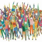 "AOL Canvas ""Hooray"" by AOL Artist Abbi Jacobson"