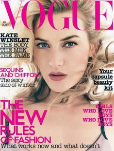 I love Vogue and I think Kate Winslet looks gorgeous here.