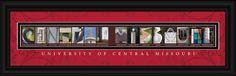 University of Central Missouri Officially Licensed Framed Letter Art