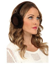 UGG Double-U Logo Shearling Earmuff Chocolate - Zappos.com Free Shipping BOTH Ways