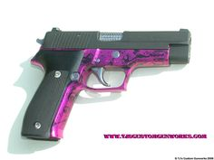 Custom Sig Sauer P226 With Hot Pink & Black Anodized Frame 2
