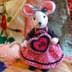 Miniature Ms. Mouse - Art Doll by The Fairies' Nest