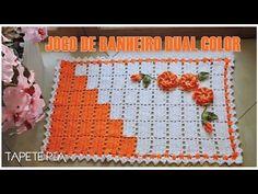 Jogo de banheiro em crochê: Tapete frente do vaso #Parte1 - YouTube