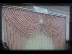 how to make swags and tails curtains(heart swag) Double Rod Curtains, Lined Curtains, Drapes Curtains, Wall Hanging Crafts, Diy Wall Art, Curtain Patterns, Curtain Designs, Swags And Tails, Aluminum Foil Art