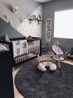 Monochrome Zoo Nursery Project Nursery Monochrome Zoo Nursery Project Nursery Anja Sherbahn anjasherbahn House Room ideas This could be the black and white nursery of nbsp hellip Baby Bedroom, Baby Boy Rooms, Baby Boy Nurseries, Kids Bedroom, Baby Boy Bedroom Ideas, Baby Room Ideas For Boys, Baby Room Grey, Room Baby, Nursery Room Ideas