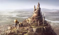 "Concept art for ""Prince of Persia, Sands of time"" Picture fantasy, tower, prince of persia, city) Fantasy City, Fantasy Castle, Fantasy Places, Fantasy World, Fantasy Concept Art, Fantasy Artwork, Space Fantasy, Environment Concept Art, Environment Design"
