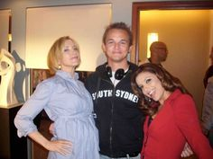 Jason Gibson on the set of Desperate Housewives with Felicity Huffman and Eva Longoria.