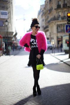 Neon Pink + Green