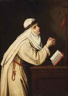 View Saint Catherine of Siena in prayer by Cristofano Allori on artnet. Browse upcoming and past auction lots by Cristofano Allori. St Catherine Of Siena, Sainte Catherine, Catholic Art, Catholic Saints, Nuns Habits, Saint Dominic, Juan Pablo Ii, Religious Paintings, Mystique