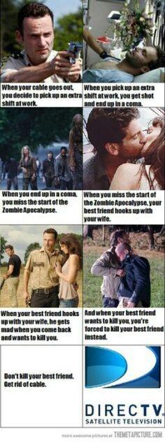Direct TV Parody - Walking Dead - FUNNY!
