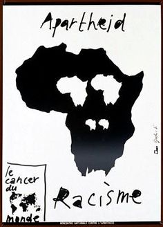 Pierre Bernard, French graphic designer known for fabulous poster art. Pierre Bernard, Cd Cover Design, Polish Posters, Protest Posters, Apartheid, Vintage Poster, Expo, Cultura Pop, Cool Posters