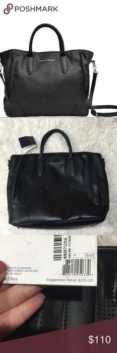 Adrienne vittadini east west tote handbag Nwt Adrienne vittadini east west tote handbag Nwt brand new with tags also includes a long adjustable strap nice inside compartments. Nice gold hardware and gold feet fully lined interior black retail 215 Adrienne Vittadini Bags