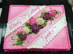 Buttercream mums cake